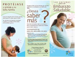 Immunization for a Healthy Pregnancy Brochure Spanish, click to view document