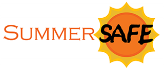 SummerSAFE logo with an orange and yellow sun behind the word SAFE.