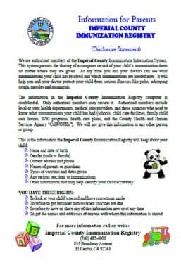 Disclosure Statement Spanish Version, click to view the document