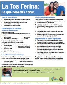 Whopping Cough, Be Aware Treat It Early Flyer Spanish
