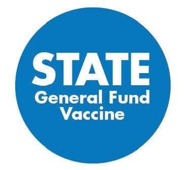 STATE general fund blue labeling sticker