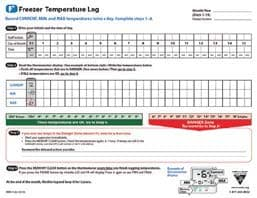 Freezer Temperature Log