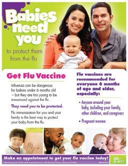 Babies Need You To Protect From the Flu flyer, click to view document